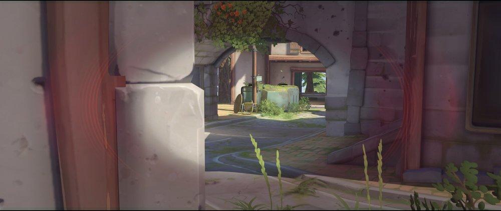 Tower right side defense sniping spot Widowmaker Eichenwalde Overwatch.jpg
