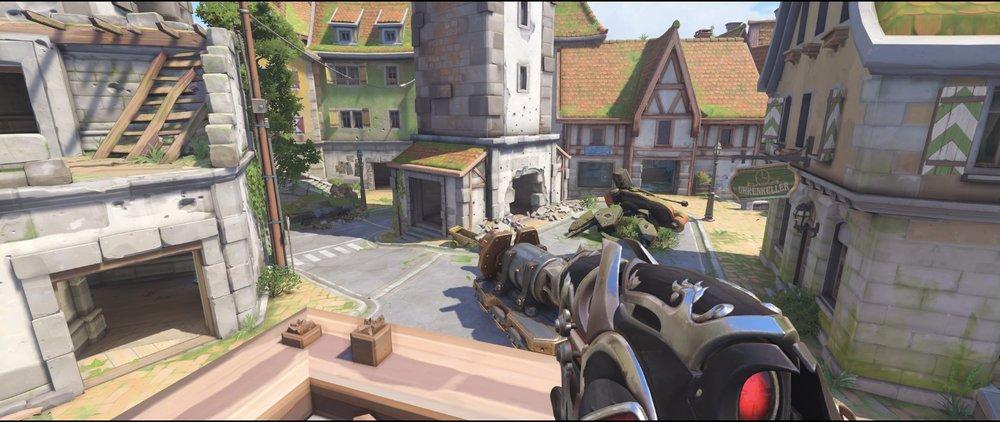 Lodge high ground attack sniping spot Widowmaker Eichenwalde Overwatch.jpg