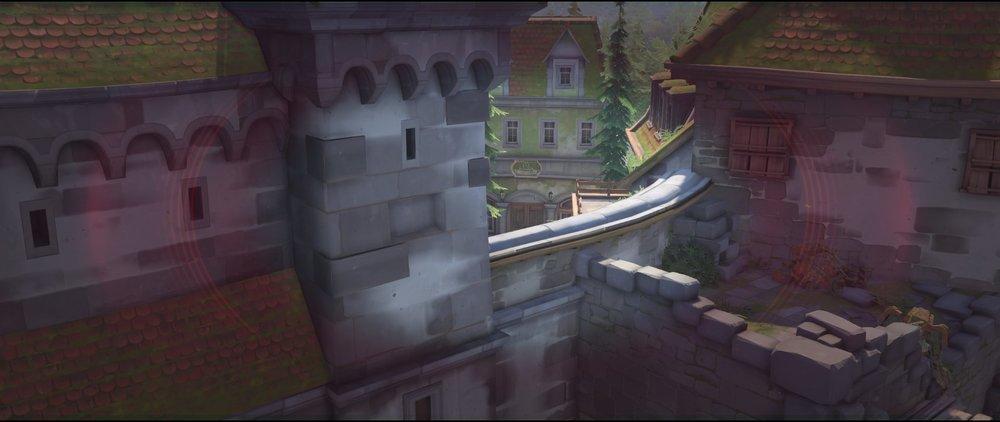 Main placement castle wall defense view to spawn sniping spot Widowmaker Einchenwalde Overwatch.jpg
