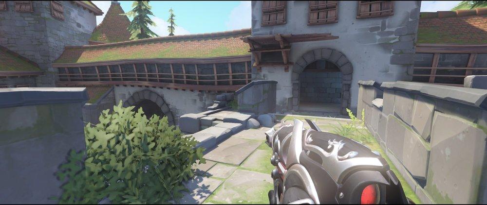 Right side defense castlr walls sniping spot Widowmaker Einchenwalde Overwatch.jpg