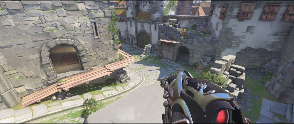 Right side view defense castle walls sniping spot Widowmaker Einchenwalde Overwatch.jpg