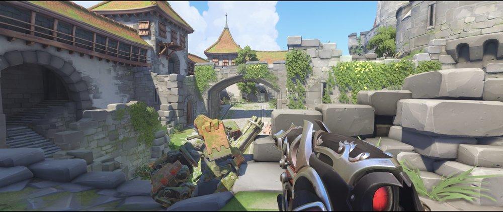 Gate high ground view attack sniping spot Widowmaker Einchenwalde Overwatch.jpg