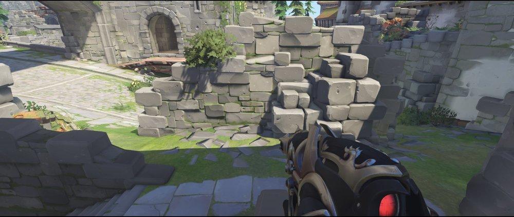 Wall defense main sniping spot Widowmaker Einchenwalde Overwatch.jpg