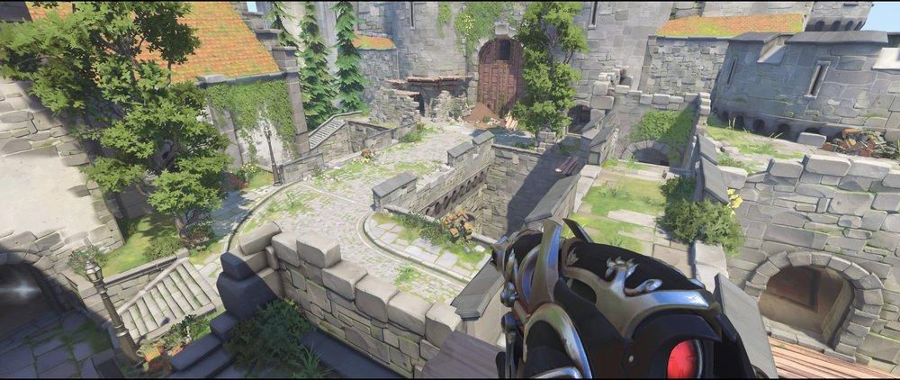 Best high ground castle walls attack sniping spot Widowmaker Einchenwalde Overwatch.jpg