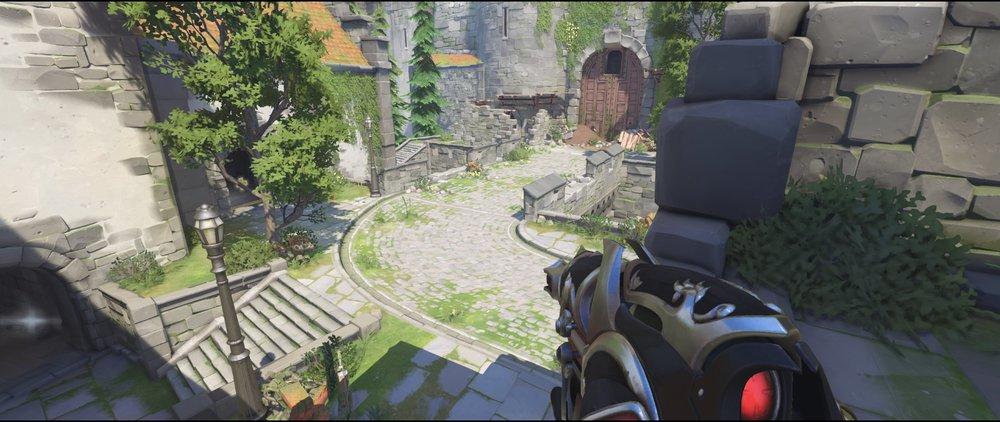 High ground castle walls attack left sniping spot Widowmaker Einchenwalde Overwatch.jpg