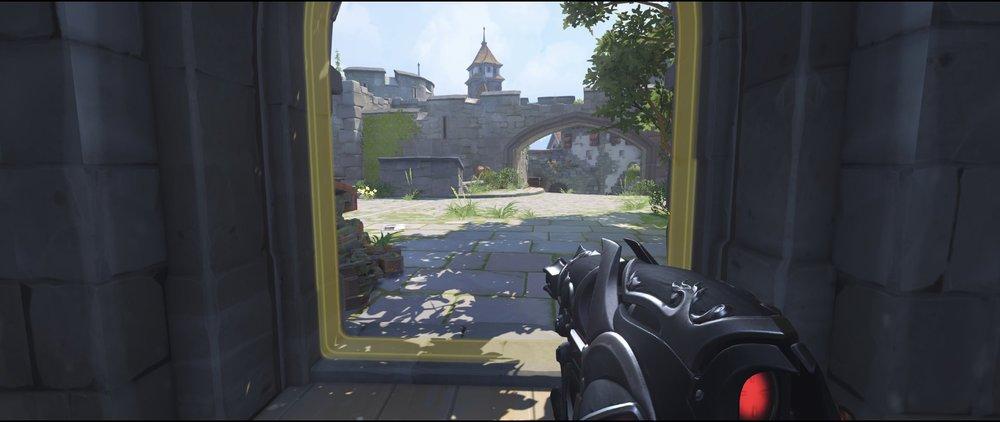 Spawn view against flankers defense sniping spot Widowmaker Einchenwalde Overwatch.jpg