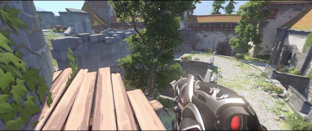 Second shelf view defense sniping spot Widowmaker Einchenwalde Overwatch.jpg