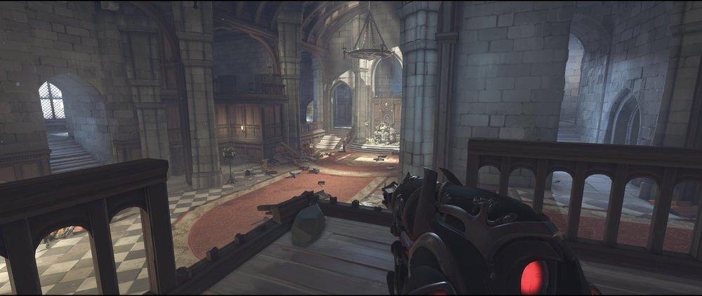 Stairs main ground level attack sniping spot Widowmaker Einchenwalde Overwatch.jpg
