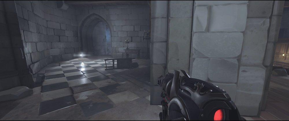 Stairs to hall attack sniping spot Widowmaker Einchenwalde Overwatch.jpg