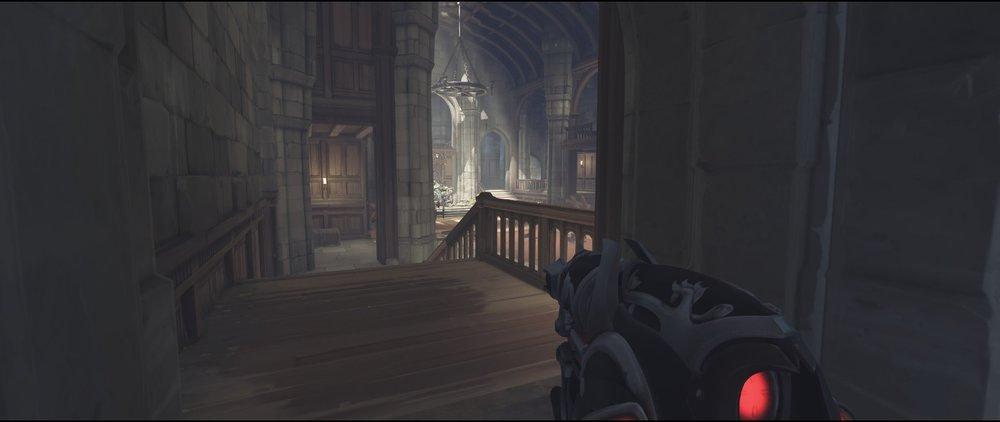 Hall view attack sniping spot Widowmaker Einchenwalde Overwatch.jpg
