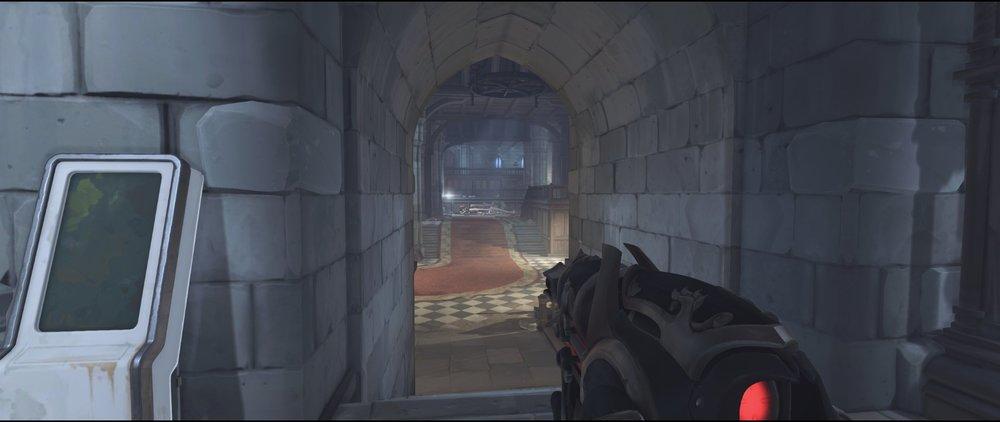 Hall to main defense sniping spot Widowmaker Einchenwalde Overwatch.jpg