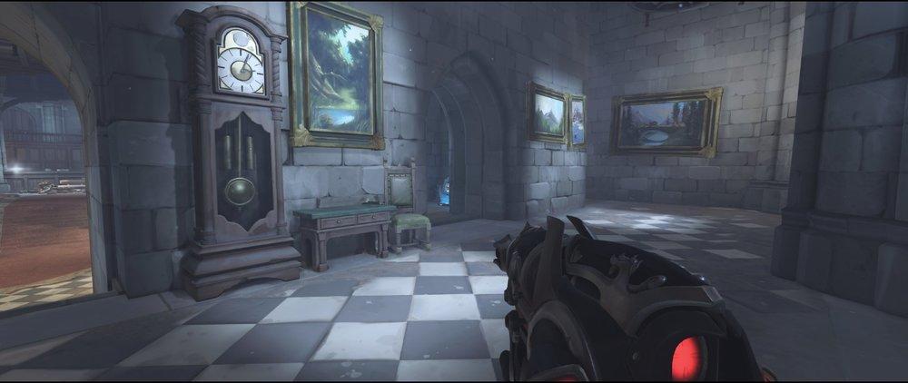 Health pack behind left hall defense sniping spot Widowmaker Einchenwalde Overwatch.jpg