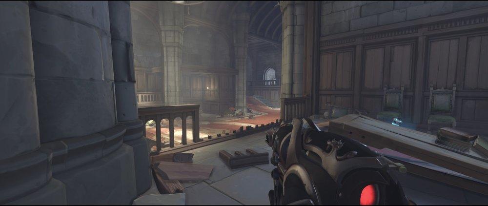 Right side 2nd pillar defense sniping spot Widowmaker Einchenwalde Overwatch.jpg
