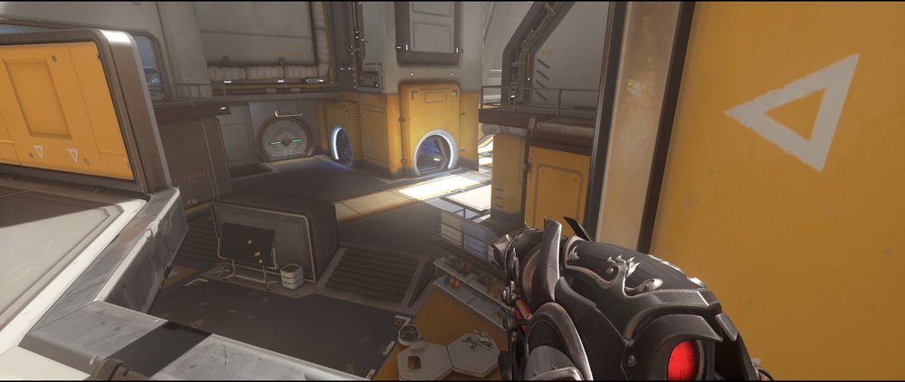 Catwalk+two+defense+sniping+spot+Widowmaker+Horizon+Lunar+Colony+Overwatch