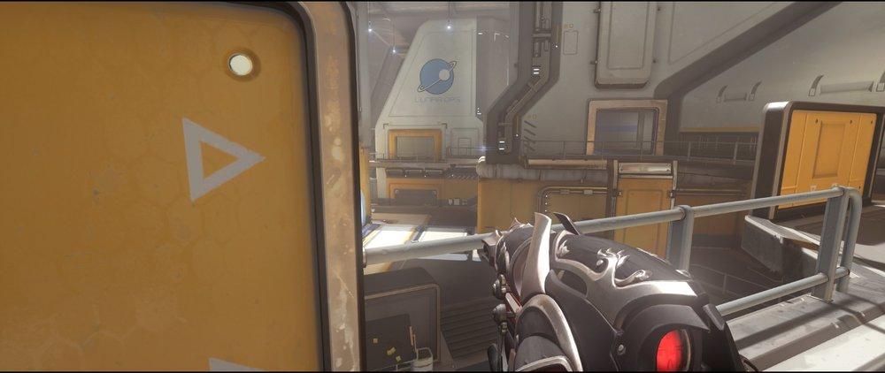 Catwalk+four+defense+sniping+spot+Widowmaker+Horizon+Lunar+Colony+Overwatch