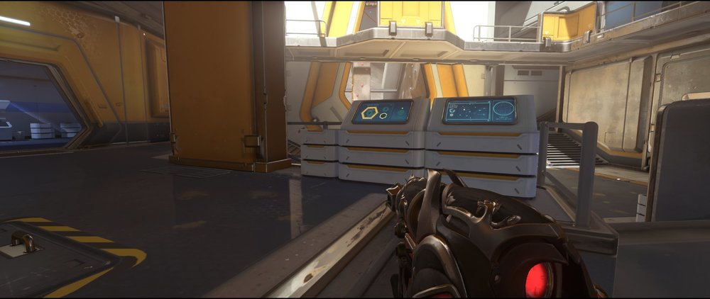 Left+side+main+attack+sniping+spot+Widowmaker+Horizon+Lunar+Colony+Overwatch