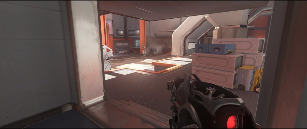Stairs+view+to+point+attack+sniping+spot+Widowmaker+Horizon+Lunar+Colony+Overwatch