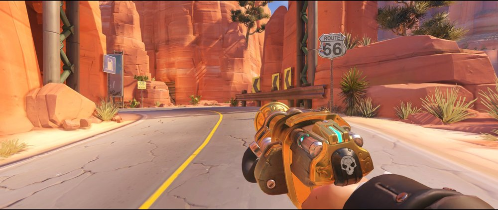 long+slope+view+turret+placement+Torbjorn+Route+66+Overwatch