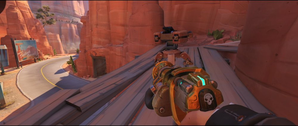 Catwalk+standard+turret+placement+Torbjorn+Route+66+Overwatch
