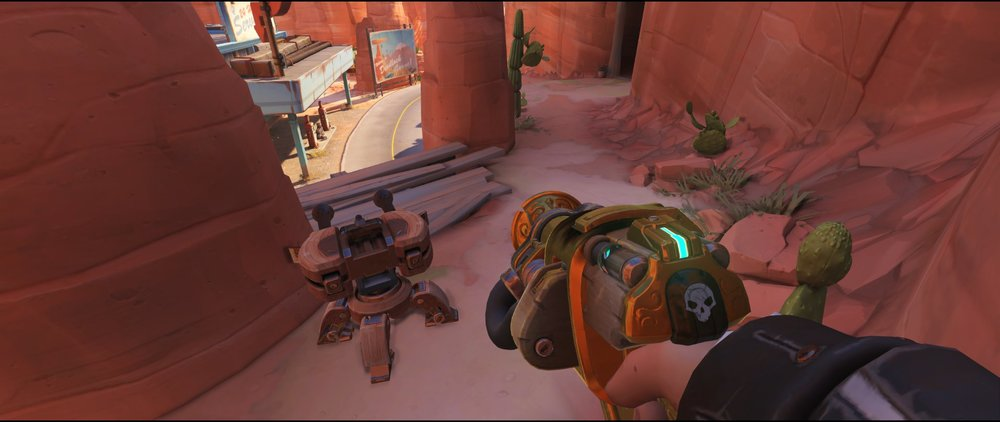 Catwalk+two+turret+placement+Torbjorn+Route+66+Overwatch