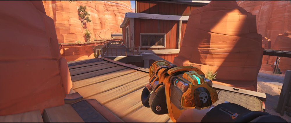 How+to+reach+Perch+turret+placement+Torbjorn+Route+66+Overwatch
