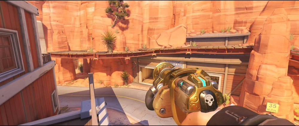 Catwalk+second+point+turret+placement+Torbjorn+Route+66+Overwatch