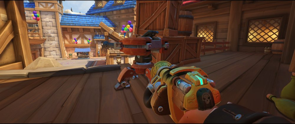 Secondary high ground protecting point turret placement spot Torbjorn Blizzard World Overwatch