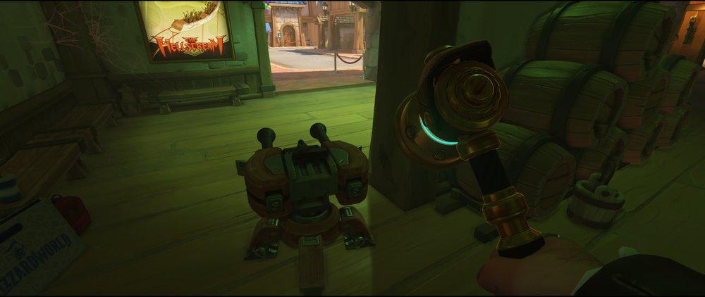 Green room turret placement spot Torbjorn Blizzard World Overwatch
