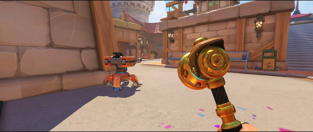 Side road protecting point turret placement spot Torbjorn Blizzard World Overwatch
