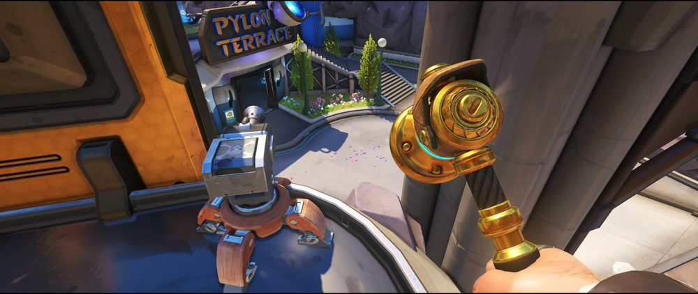 All+right+yellow+panels+turret+placement+spot+Torbjorn+Blizzard+World+Overwatch