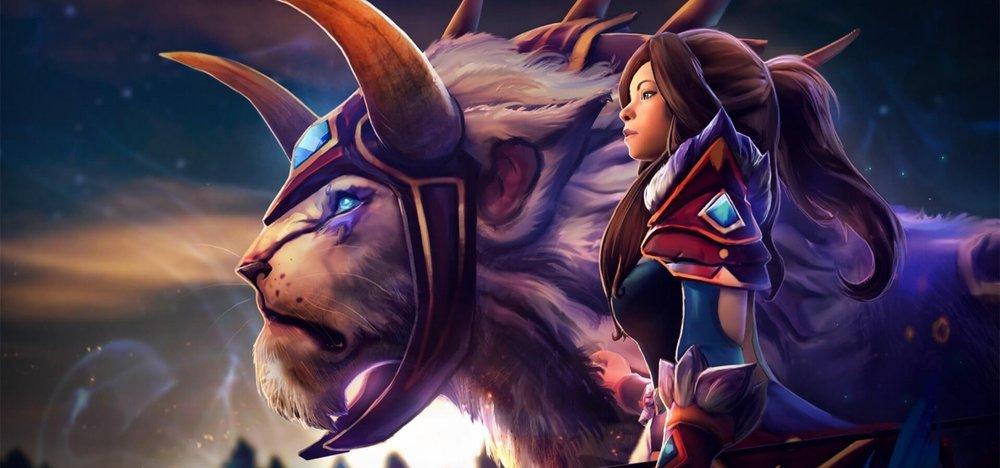 Darkfall Warden loading screen for Mirana - Valve