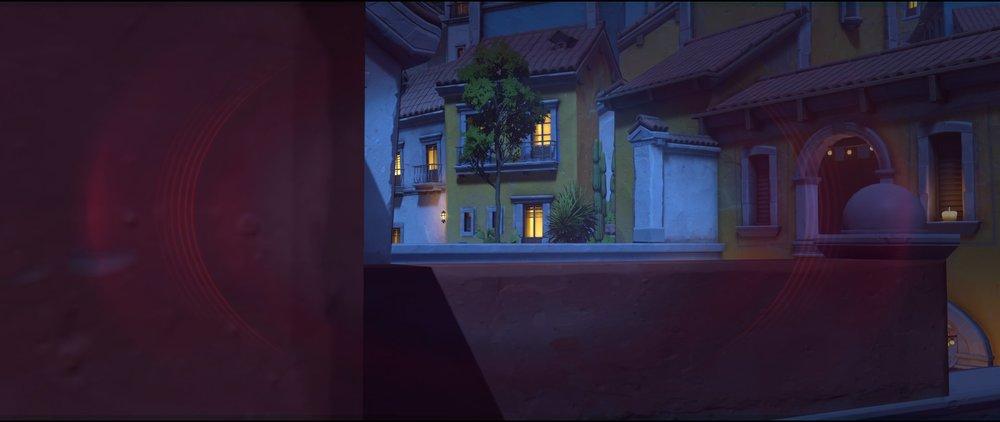 Red rooftop to high ground view attack sniping spot Widowmaker Dorado.jpg