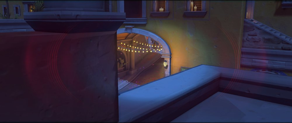 Red rooftop to mid view attack sniping spot Widowmaker Dorado.jpg