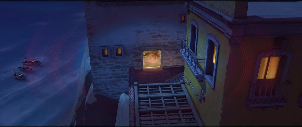 White rooftop to left side spawn defense sniping spot Widowmaker Dorado.jpg