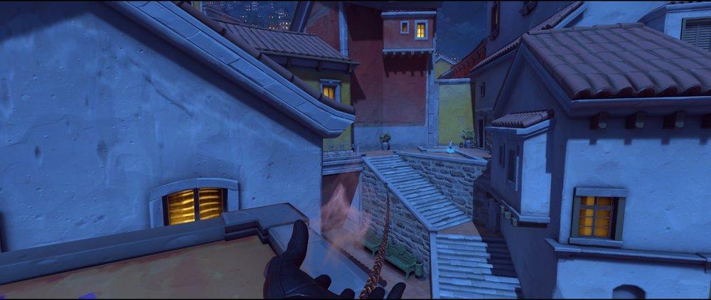White rooftop to health pack defense sniping spot Widowmaker Dorado.jpg