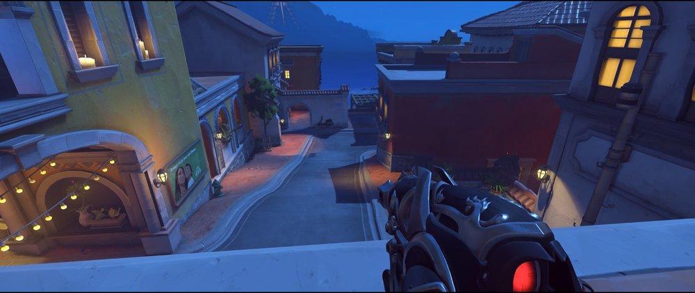High ground Lounge to mid defense sniping spot Widowmaker Dorado