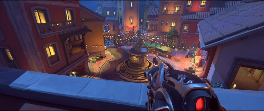 Main gate defense sniping spot Widowmaker Dorado