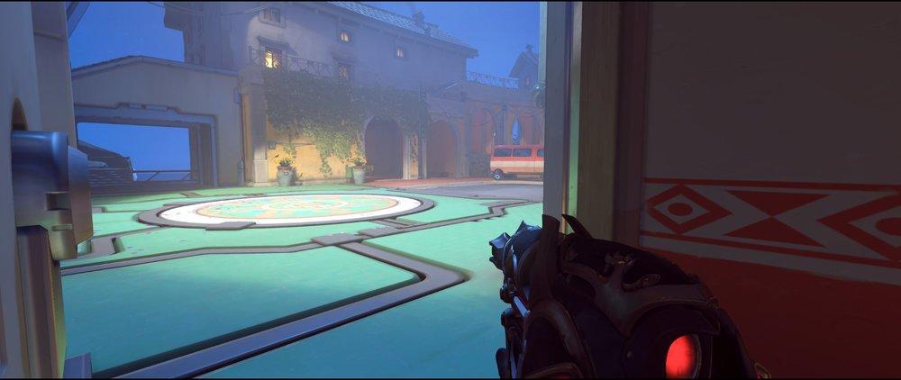 Bank flank view attack sniping spot Widowmaker Dorado.jpg