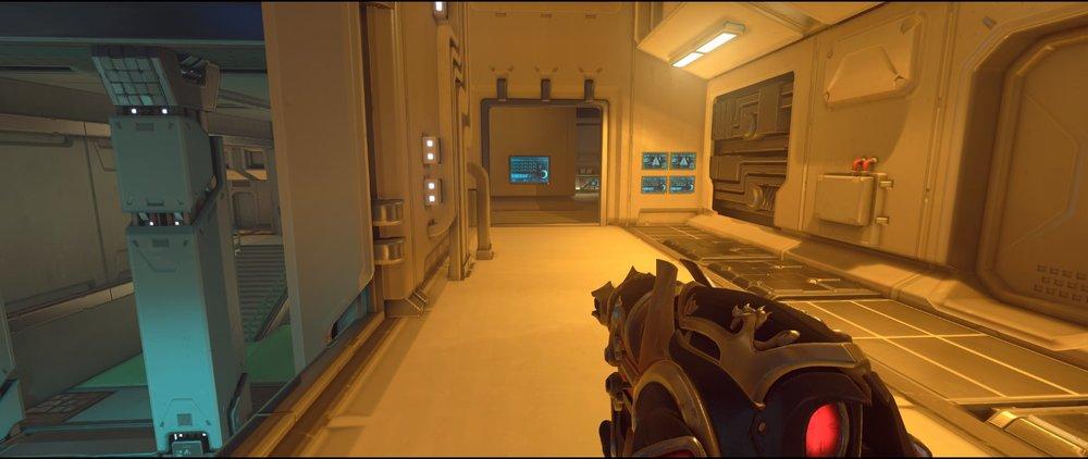 Storage flank route attack sniping spot Widowmaker Dorado.jpg