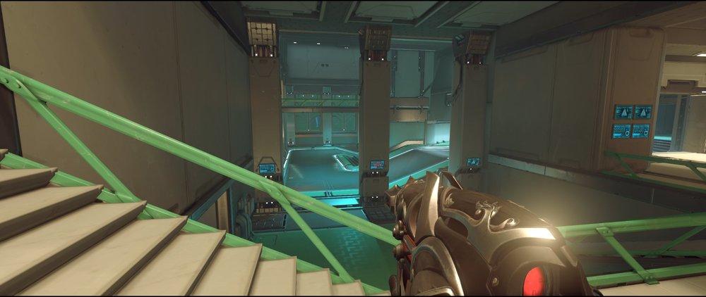 Storage stairs defense sniping spot Widowmaker Dorado.jpg