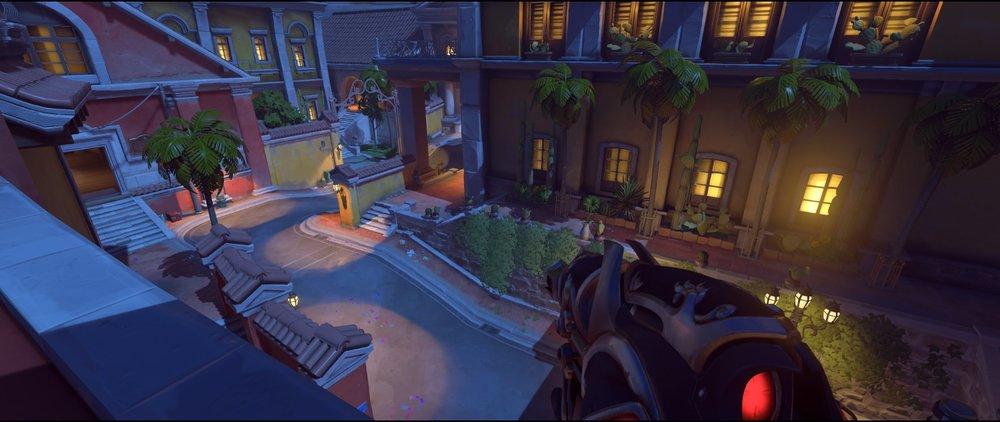 Main Gate attack sniping spot Widowmaker Dorado