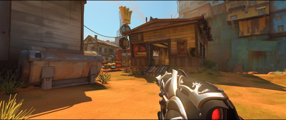 Outside spawn attack Widowmaker sniping spot Junkertown.jpg