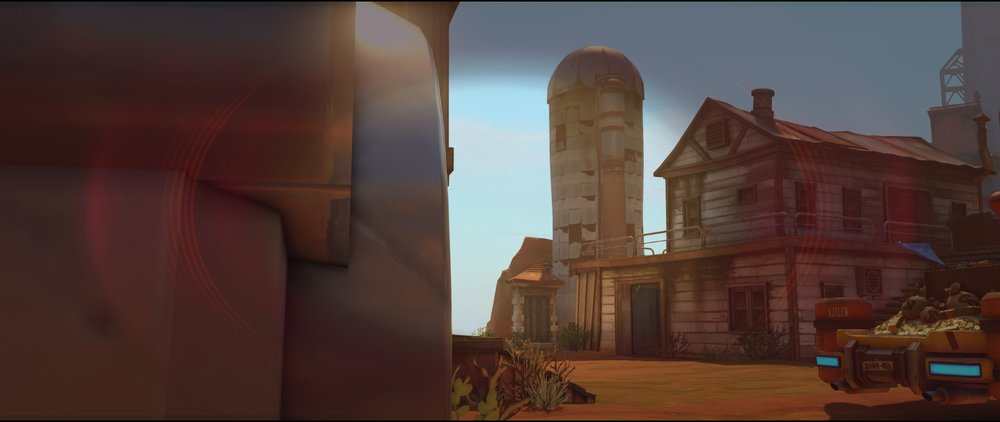 Outside spawn view attack Widowmaker sniping spot Junkertown.jpg