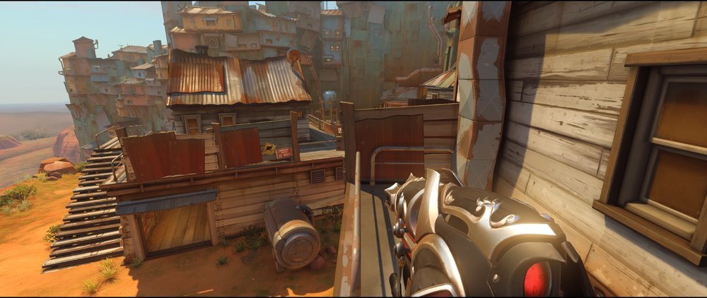 Engine high ground attack Widowmaker sniping spot Junkertown.jpg