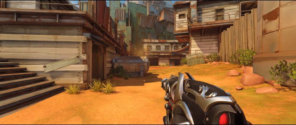 Left side main road attack Widowmaker sniping spot Junkertown.jpg