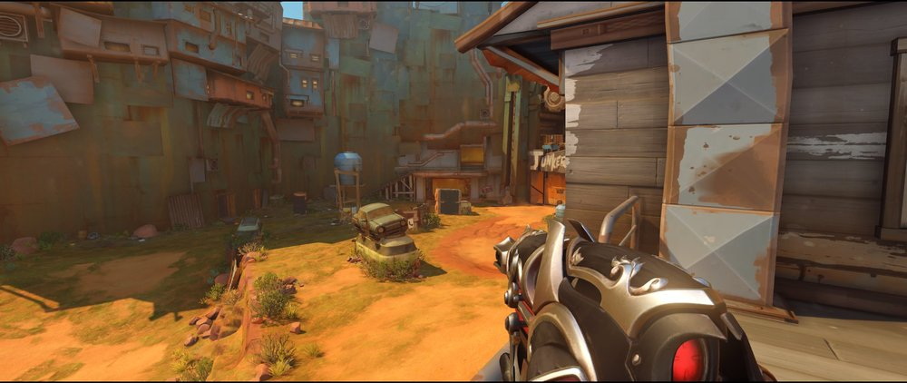 Left side top apartment attack Widowmaker sniping spot Junkertown.jpg