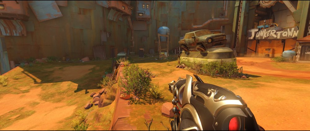 Coast attack Widowmaker sniping spot Junkertown
