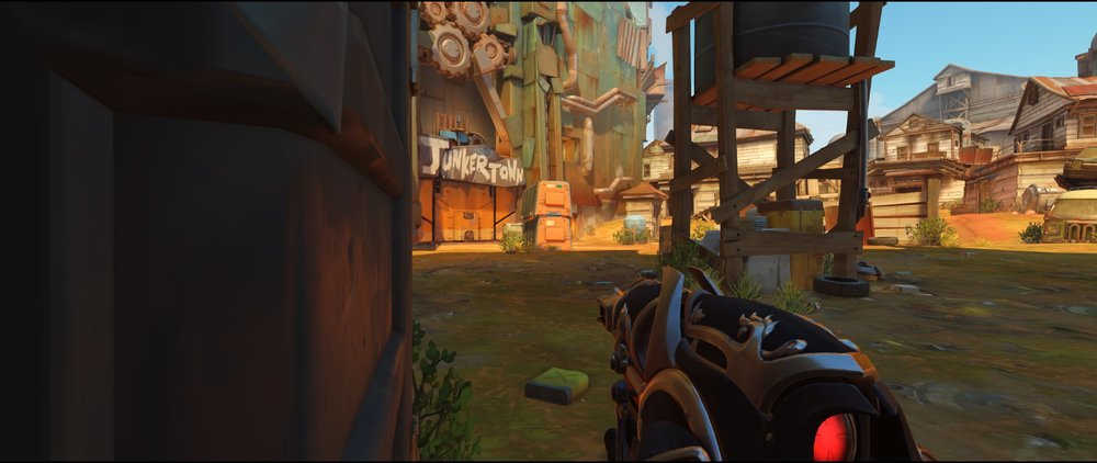 Very left side Coast attack Widowmaker sniping spot Junkertown.jpg