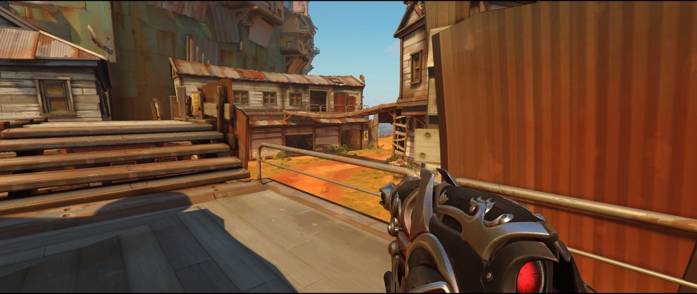 Appartment to main defense Widowmaker sniping spot Junkertown.jpg