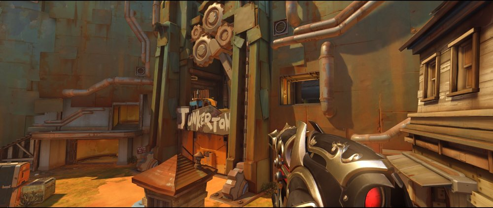 Panorama first point defense Widowmaker sniping spot Junkertown